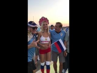 Наталья Андреева - Самая красивая болельщица сборной России