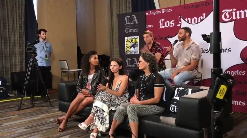 The @SirenTV cast members say they go through training to hold their breath underwater while filming. Stay tuned for the full vi