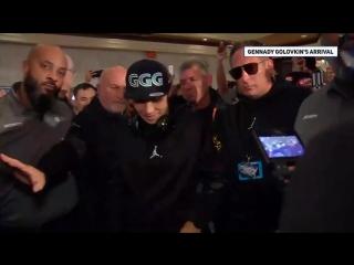 Видео выхода Головкина под свою любимую песню к фанатам в Лас-Вегасе