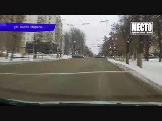 Видеорегистратор. Сбил девочку на Дзержинского. 27.11.2018