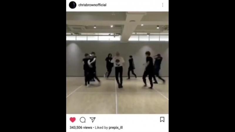 Nct in chris brown's instagram