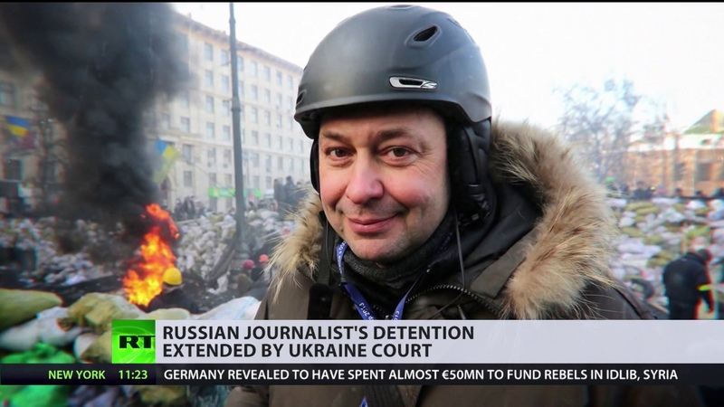 UKRAINE COURT EXTENDS RUSSIAN JOURNALIST'S DETENTION, SPARKING PROTEST RALLY IN MOSCOW.