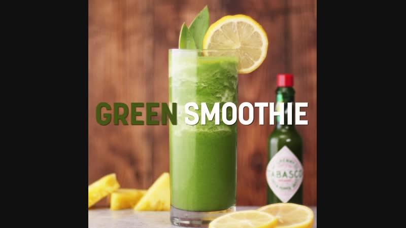 Зеленый смузи с TABASCO® Зеленым Перечным Соусом