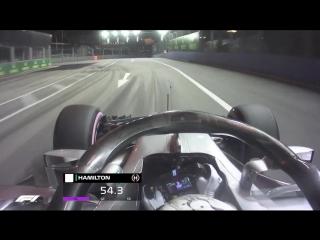 Lewis Hamilton's Singapore pole lap