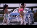 Super hot erotic car wash on beautiful asian girls in bikinis