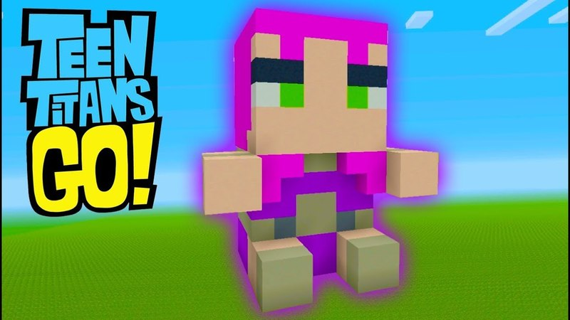 Minecraft Tutorial How To Make A Starfire Plushy Teen Titans GO!