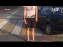 Пьяная девушка легла на дорогу, изображая «аварийку»
