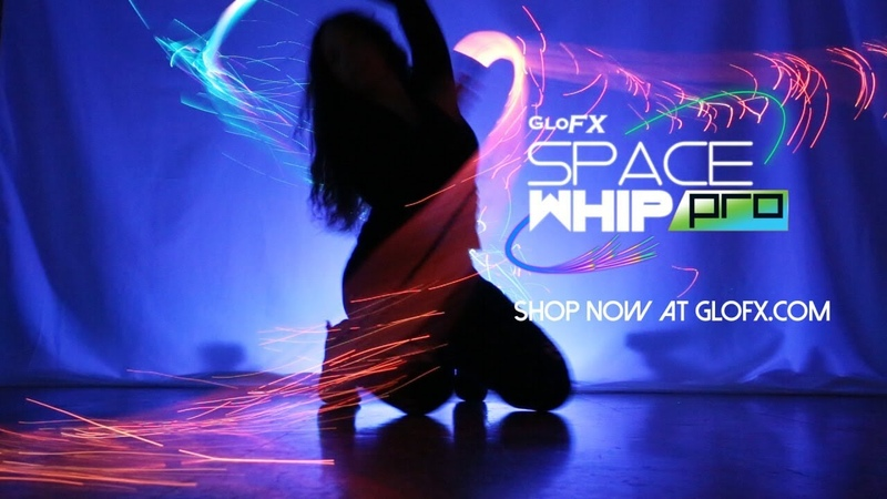 GloFX Space Whip Pro - Programmable Fiber Optic LED Whip