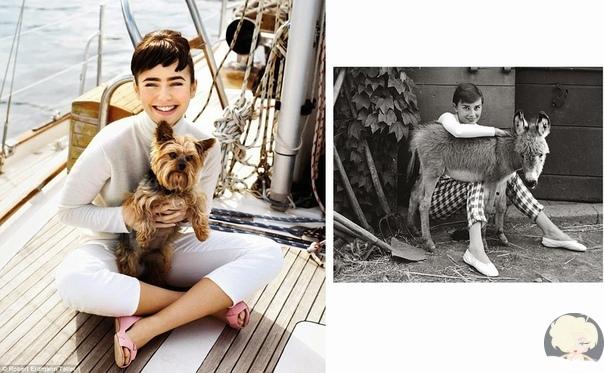 Лили Коллинз как кандидат на главную роль в байопике об Одри Хепберн.
