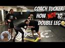Coach tucker double leg goes wrong