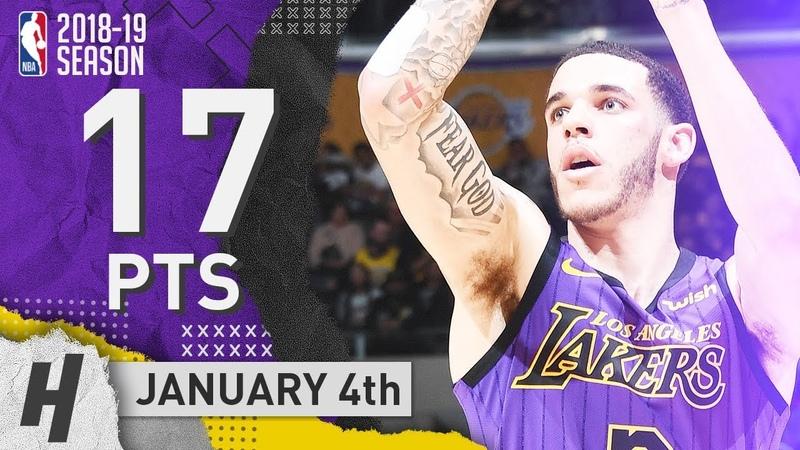 Lonzo Ball Full Highlights Lakers vs Knicks 2019.01.04 - 17 Pts, 2 Ast, 6 Rebounds!