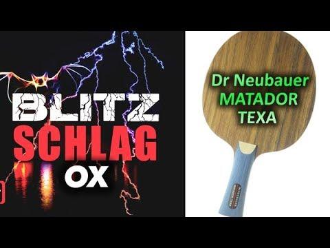 Test DR NEUBAUER Matador Texa с длинными шипами OX SPINLORD Blitzschlag long pips