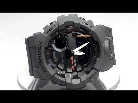 Casio G-Shock GBA-800-8A Bluetooth Step tracker watch video 2018