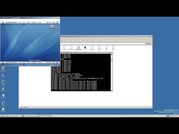 Running Mac OS X 10.4 in ReactOS via PearPC