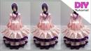 Cara menghias toples barbie dengan pita satin Tempat permen barbie Toples hias