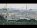 Пуск ПТРК TOW боевиками Сирийской Свободной армии по танку САА, провинция Даръа.