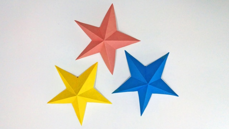 CHRISTMAS CRAFTS Simple 3D Paper Stars | DIY Paper Crafts Ideas for Christmas Decoration |