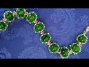 Браслет из бисера и бусин. МК. Tutorial: beaded bracelet. DIY