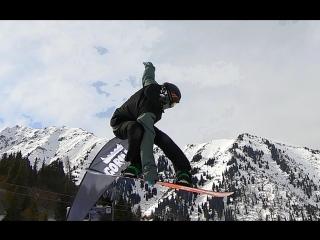 Top to bottom snowboarding kazakhstan / almaty / shymbulak
