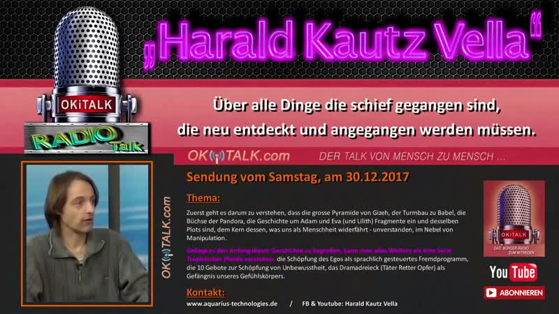 Harald Kautz Vella im Radio Okitalk gespräch über alle Dinge die schief gegangen