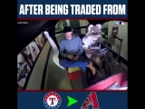 Jake Diekman was traded from the Rangers to the D-Backs in the middle of their series