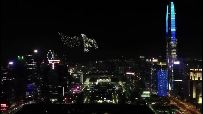 改革开放40年灯光秀——深圳