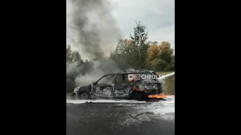 Сгорел Пассат под Ульяновском