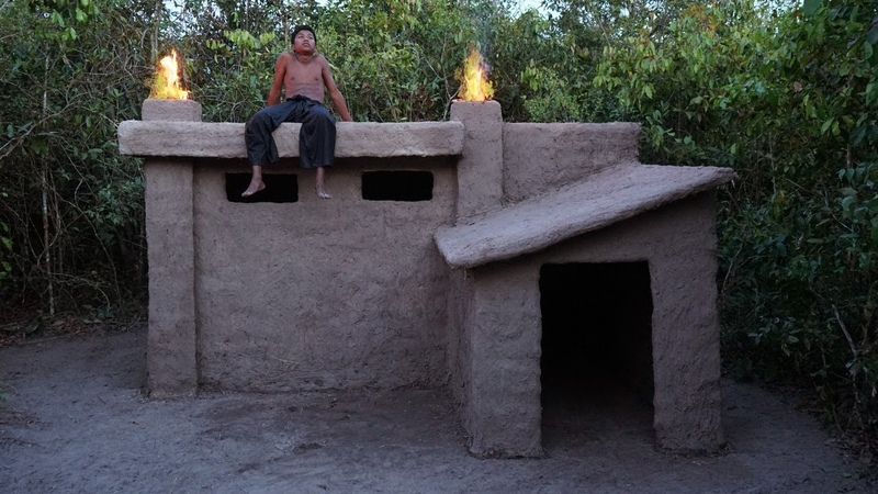Building Most Beautiful Presidential Villa by Ancient Skill Using Mud and Hay