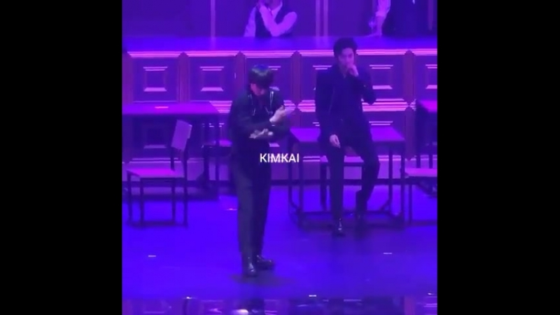 Junmyeon looks so cute trying to copy jongin. - And jongin sweetie.. calm down. - - EXO weareoneEXO EXOPLANET TheElyXiOn_dot EXO