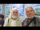 На выставке картин Любовь Норгелене. Альфред Позняков и Николай Батырев