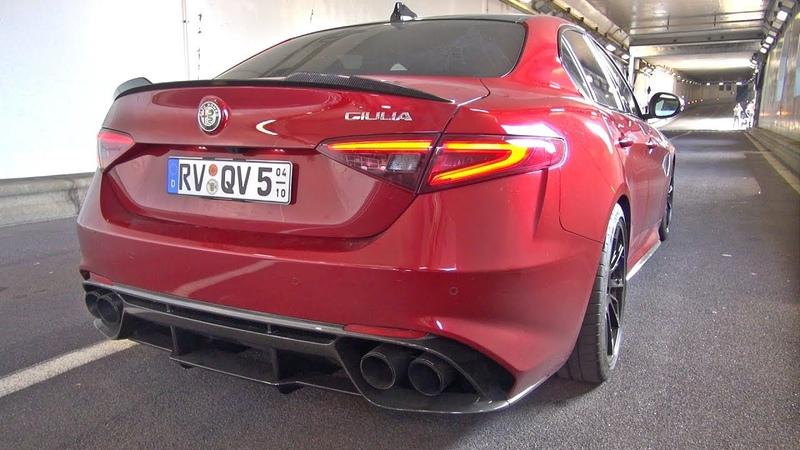 Alfa Romeo Giulia Quadrifoglio with Pogea Racing Exhaust!