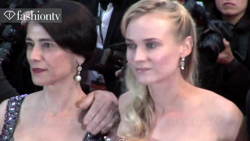 Diane Kruger, Hiam Abbass, Isabelle Huppert / Amour Red Carpet Cannes 2012