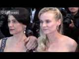 Diane Kruger, Hiam Abbass, Isabelle Huppert Amour Red Carpet Cannes 2012