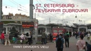 St.Petersburg - Nevskaya Dubrovka Train Driver's View ( Cab ride ) Russia
