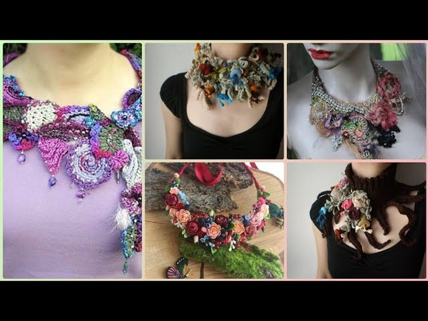 Beautiful vintage crochet embroidered boho necklace styles