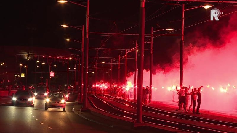 Feyenoord supporters vieren 110 jarig bestaan