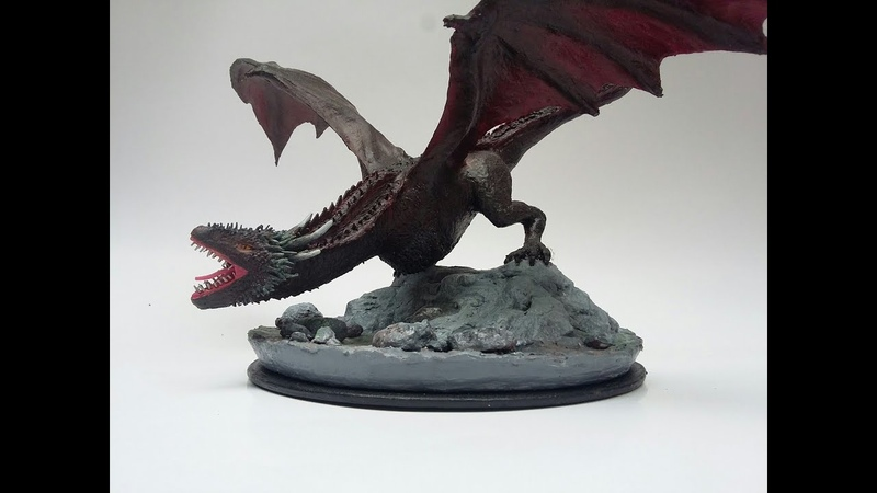 Paper Mache Drogon from Game of Thrones - Paper Hands