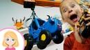 Настоящая СТРОЙКА - Маленькая Вера и КРАН DICKIE - Строительная техника и Синий трактор