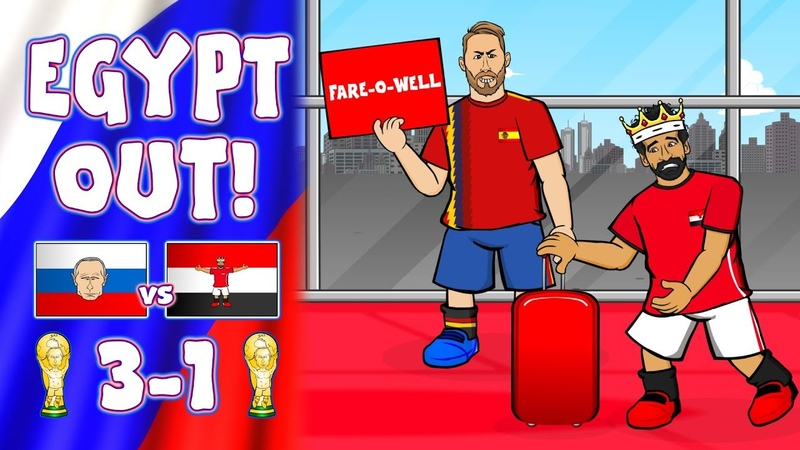 🛫SALAH's GOING HOME!🛫 Egypt Knocked Out of the World Cup (Russia 3-1 Egypt Parody)