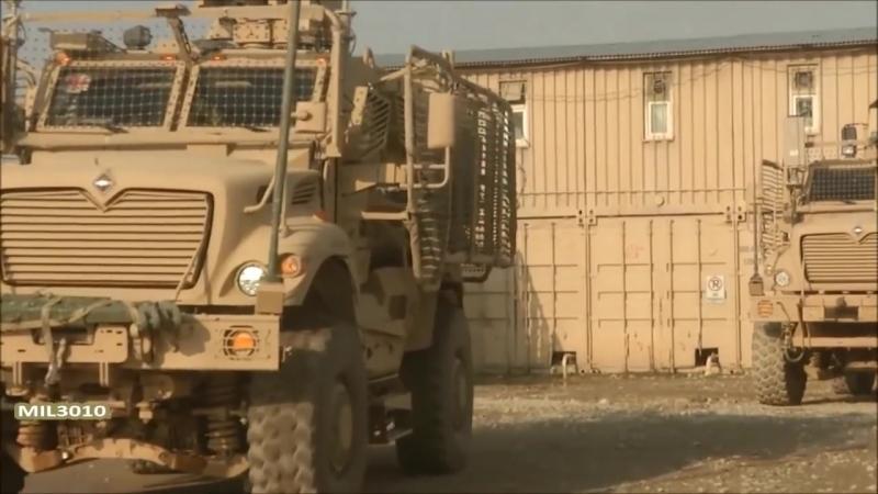 Грузинский патруль в Афганистане _⁄ Бронеавтомобили MaxxPro и Хамви