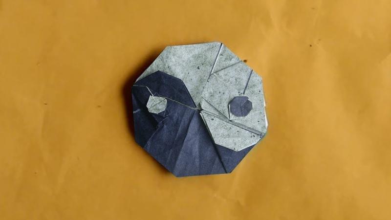 Origami Tai-Chi Symbol (Yin Yang) ☯ Tutorial (Hadi Tahir)