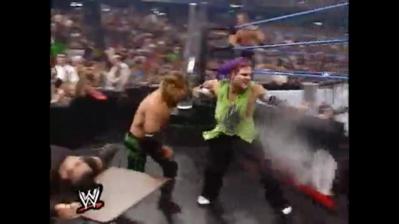 Chris Jericho and Chris Benoit vs Edge and Christian, Dudley Boyz and Hardy Boyz (Smack Down, 24.05.01)