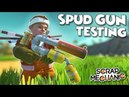 NEW SPUD GUNS ARE HERE Destruction Physics Testing and MORE Scrap Mechanic Spud Gun Update