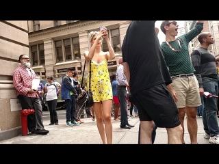Short see-through summer dress on teen   Под юбкой