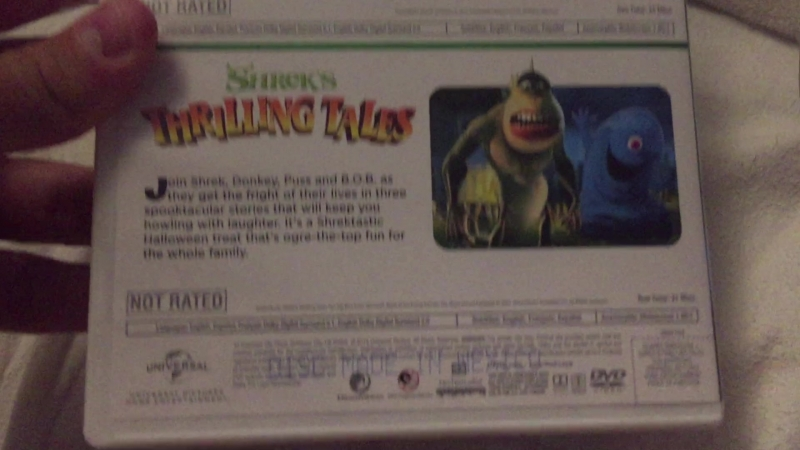 VHS, DVD and Blu-ray Show 19 Scared Shrekless/Shrek's Thrilling Tales