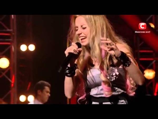 SEMARGL vocalist Adele Ri (Ирина Василенко) at X-factor Ukraine sings Wrecking Ball