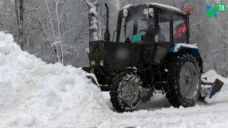 Обильный снегопад в феврале Коммунальщикам не до отдыха