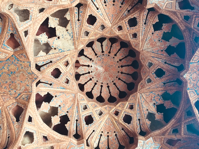 Путешествие в иран часть 9. Music Hall во Дворце Ali-Qapu