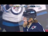 Patrik Laine sends a cross-ice pass to Dustin Byfuglien Финский Хоккей╞╬═╡Suomen Jääkiekko