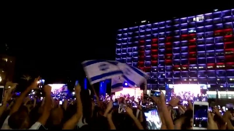 Празднование победы в Евровидении 2018. Тель Авив
